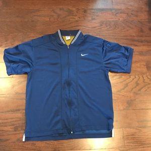 Nike track short sleeve jacket vintage